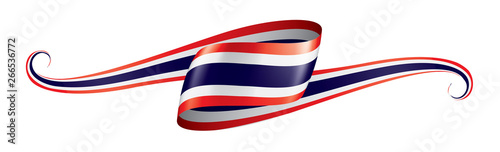 Foto Thailand flag, vector illustration on a white background