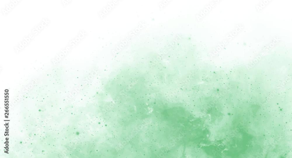 Fototapeta Abstract green watercolor background for your design, watercolor background concept, vector.