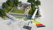 Leinwandbild Motiv Architecture and landscape model project