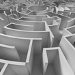 Leinwandbild Motiv a circle maze from above