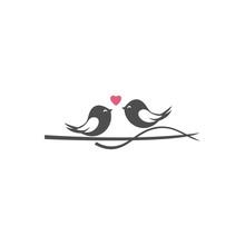 Couple Bird Vector Logo Design