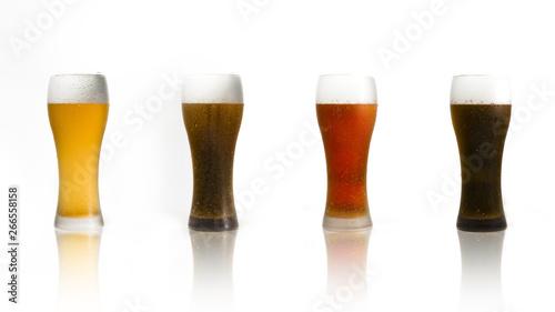Poster de jardin Bar Beer glasses line