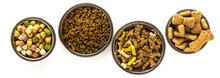 Banner Of Pet Food In Bowls An...