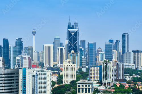 Canvas Prints Kuala Lumpur City skyline view of Kuala Lumpur, capital of Malaysia
