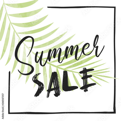 Foto op Canvas Retro sign cute summer poster
