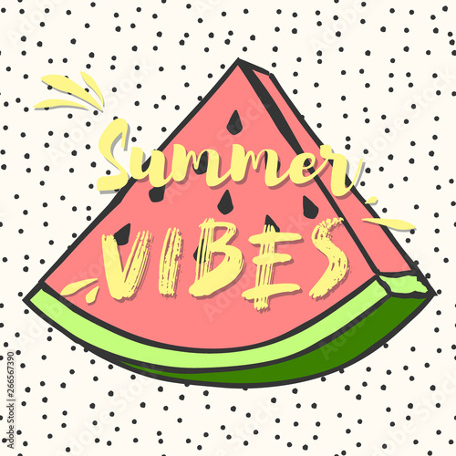 Canvas Prints Retro sign cute summer poster