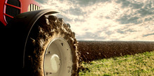 Tractor Cultivating Field. Agr...