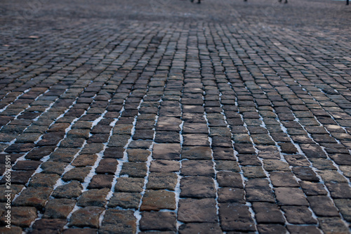 Carta da parati Stone pavement in perspective