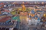 Fototapeta Miasto - Łódź, Polska- widok na Plac Wolności.