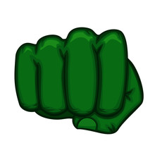 Green Fist Of The Hulk Superhe...