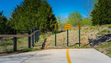 Dead End Biking Trail Sign, Ye...