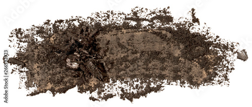 Fotografía  Black coal texture paint stain brush stroke, hand painted, isolated on white background