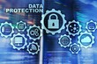 canvas print picture - Server data protection concept. Safety of information from virus cyber digital internet technology