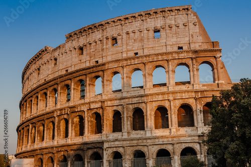 Valokuva  The Colosseum or Coliseum, also known as the Flavian Amphitheatre, is an oval am