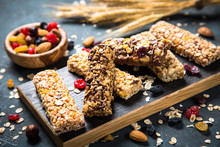 Granola Bar With Nuts, Fruit A...