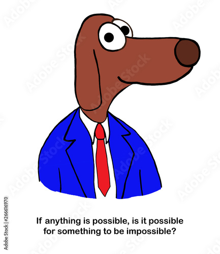Dog speaker believes anything is possible Canvas-taulu