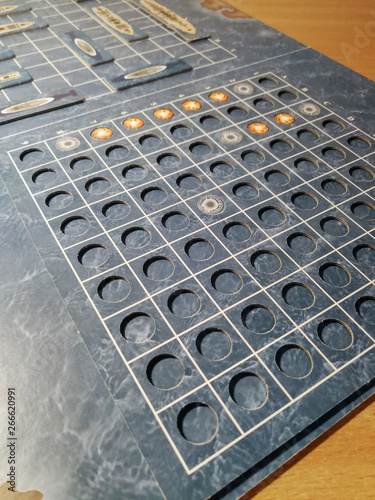 Photo Battleship board game close up