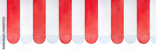 Fotografie, Obraz Seamless repeatable pattern red and white striped awning