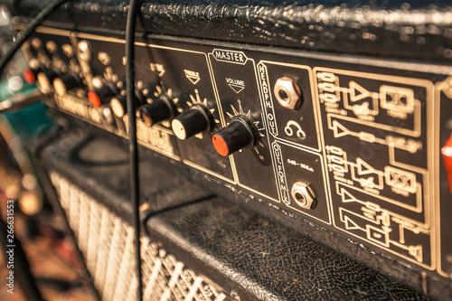Detail of a vintage guitar amp Fototapeta