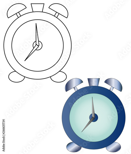 Photo  Alarm clock icon isolated on white background simple line outline style modern d