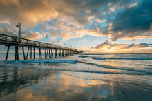 The Pier At Sunset, In Imperial Beach, Near San Diego, California