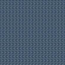 Classic Striped Pattern With Leaf Motif On Blue Background