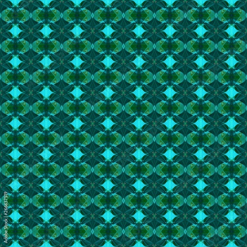 Graphic With Teal Green Very Dark Blue And Dark Turquoise