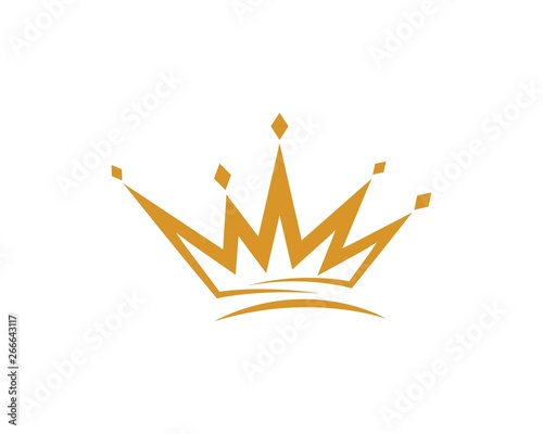 Fotografering Crown Logo Template vector icon