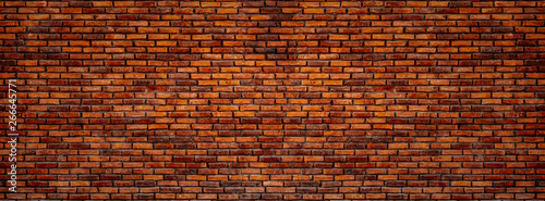 Old red bricks wall. - 266645771