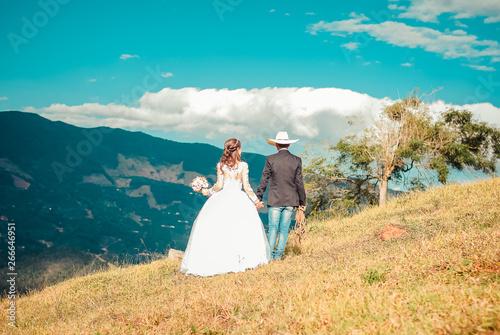 Obraz na plátně cowntry wedding