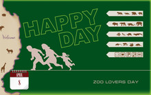 Postcard Zoo Lovers Day