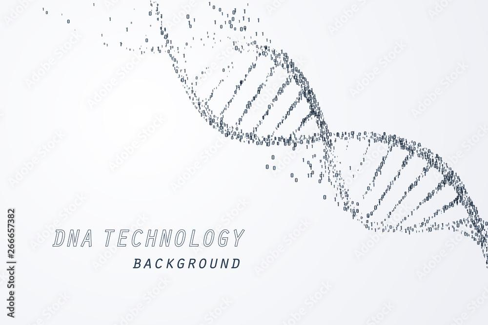 Fototapeta Digital of DNA virtual, technology and medical concept