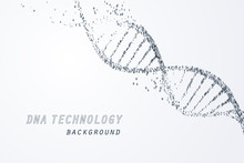 Digital Of DNA Virtual, Techno...