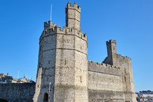 The Caernarfon Castle In North Wales On A Sunny Day
