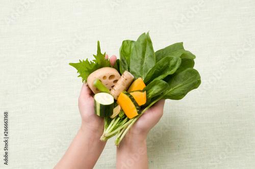 Fototapeta 食物繊維豊富な野菜 obraz