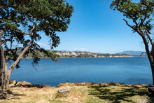 Landscape Of Lake Cachuma And Surrounding Mountains In California