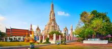 Beautiful View Of War Arun. Bangkok, Thailand. Panorama