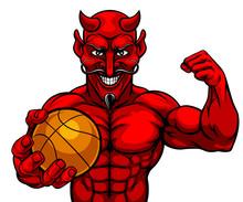 A Devil Satan Basketball Sport...