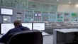 Power Station employee. Engineer and Control Panel Power Station