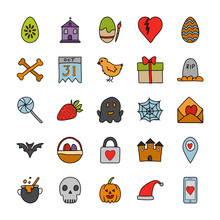 Occasions Doodle Icons Set