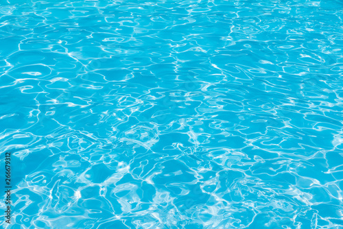 Fototapety, obrazy: Beautiful ripple wave and blue water surface in swimming pool, Blue sea background and abstract
