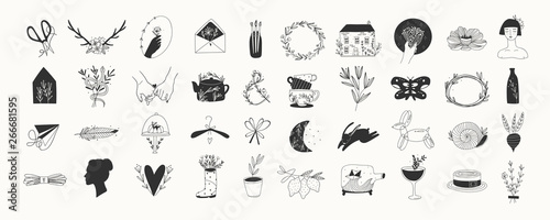 Photo  Various simple, elegant and bohemian icons