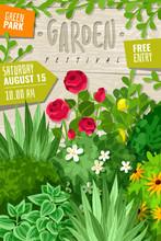 Garden Cartoon Vertical Poster