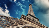 Paris. La Tour Eiffel, bottom-up street view - 266685595