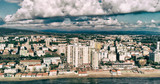 Panoramic aerial view of Follonica coastline - Italy - 266686163