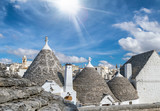 Alberobello panoramic aerial view on a wonderful sunny day, Apulia, Italy - 266686183