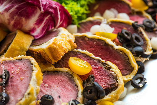 Beef Wellington with side dish