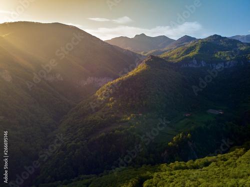 Tuinposter Zwart High landscape with mountains