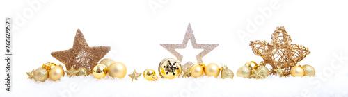 Obraz christmas decoration on white - fototapety do salonu