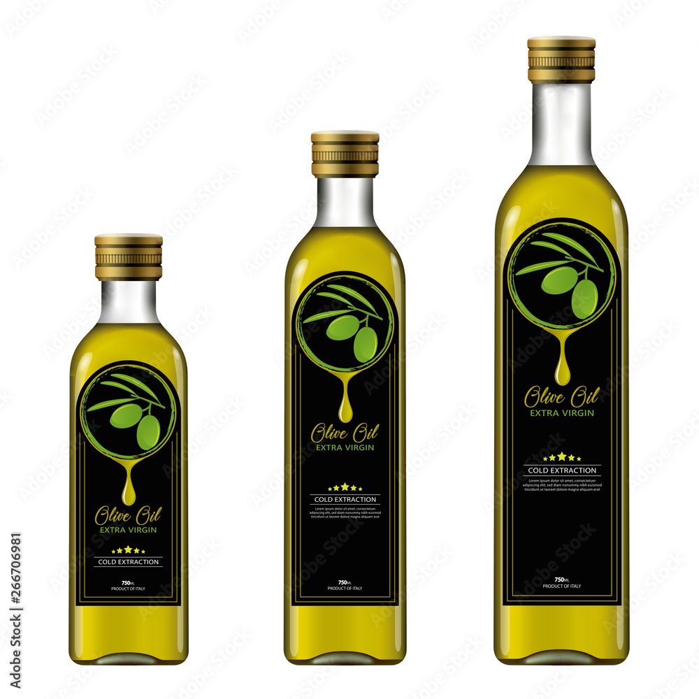 Fototapeta Olive Oil Bottle Mock-up
